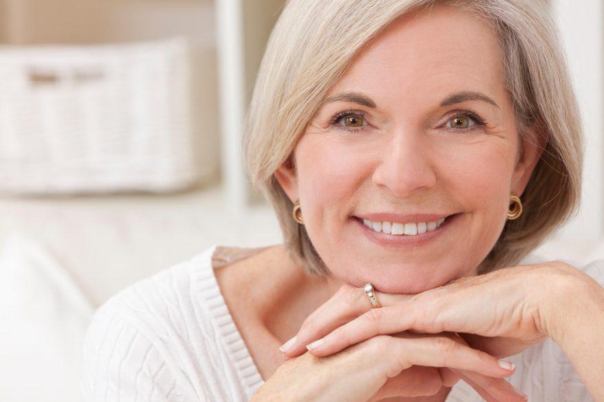 Dentures-Tamiami-smile-senior-woman